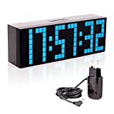 Leadleds LED Digital Alarm Clock, Large Big Number LED Snooze Wall Desk Clock with Countdown Timer Calendar Temperature