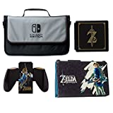PowerA Everywhere Messenger Bag with Legend of Zelda Hybrid Cover, Joy-Con Comfort Grip & Premium Card Case Kit - Nintendo Switch