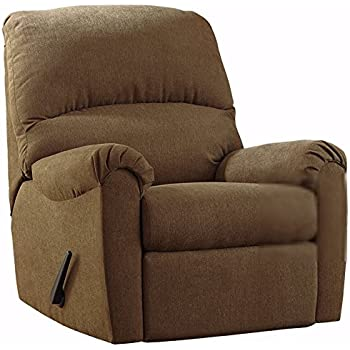 ashley furniture signature design zeth rocker recliner pull tab manual reclining