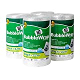 Duck Brand Bubble Wrap Roll, 3/16' Original Bubble Cushioning, 12 Inch x 30 Feet, Perforated Every 12', 4 Pack