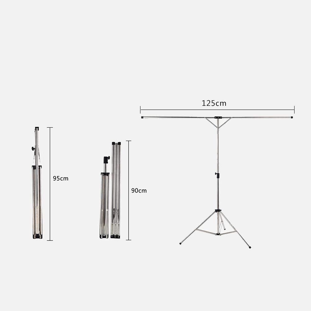 Pour Balcon /Étendre S/écher Lessive V/& S/échoir /à Linge Pliable Inox T/élescopique Haute Capacit/é S/échoir /à Linge Tr/épied R/églable /Étendoir /à Linge Interieur Ext/érieur
