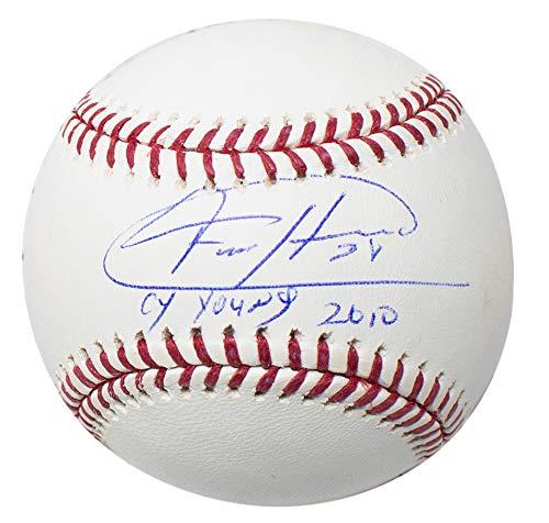 - Felix Hernandez Seattle Mariners Signed MLB Baseball Cy Young 2010 Inscribed w/Free Ball Cube JSA