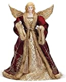 Roman 14'' Wine with Gold Angel Christmas Tree Topper