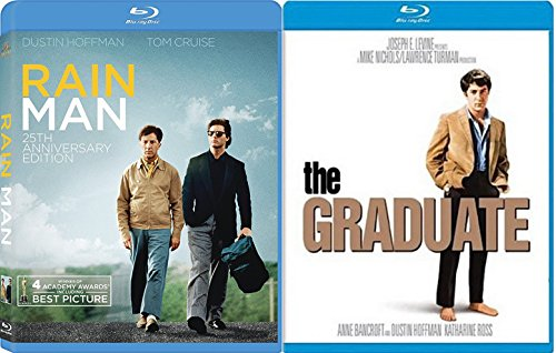The Graduate + Rain Man Blu Ray ACADEMY AWARDS Dustin Hoffman movie Set Double Feature