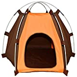 Cheap Lifeunion Waterproof Pet Dog Tent House Detachable Pet Hexagon Kennel Tent with Extra Strong Stick, Crate for Small Medium Dog Outdoor Activities (Orange)