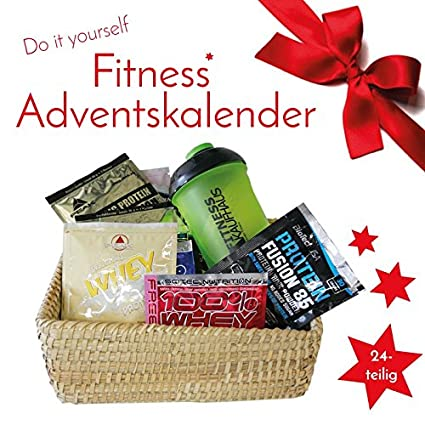 Fitness Weihnachtskalender.Fitnesskaufhaus Do It Yourself Samples Fitness Adventskalender 2019 24 Tlg Protein Shaker