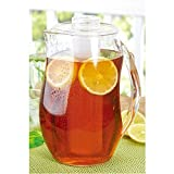 72 oz water jug - Brilliant - Patio Acrylic Pitcher with Interchangeable Fruit Infuser and Ice Cores, 72 oz  (2 Liters)
