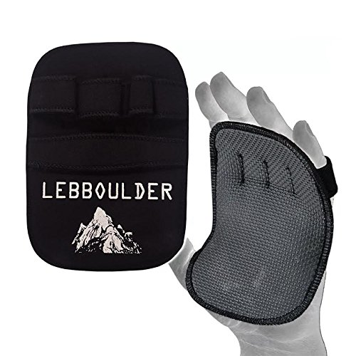 LEBBOULDER Gym Gloves/Workout Grips: Quality Neoprene Pads for Men & Women's Weightlifting, Crossfit Training, Fitness or ()