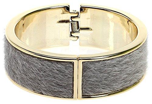 Royal Diamond Magnetic Designer Inspired Lock Bangle (Grey) (Gabbana Gold Dolce Bracelets)