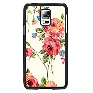 Retro Vintage Flower Design Samsung Galaxy S5 I9600 Case Cover Hipster Vogue Floral Leaves Print Hard Plastic Cell Phone Cases for Women by icecream design