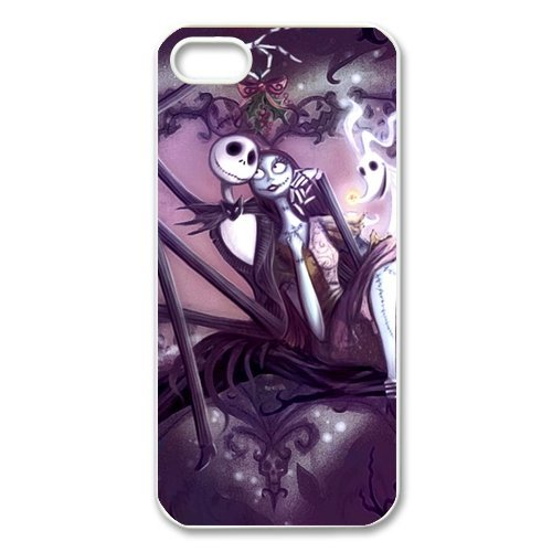 Creative Funny Picture of Jack Sally The Nightmare Before Christmas iPhone 5 5S New Style Durable Case (Good Funny Halloween Costumes)