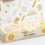 CXLKST Sandwich Cookie hamburger Waxed Paper Waterproof Greaseproof Wrap Packaging
