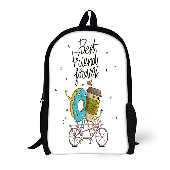 d49b2376dced Amazon.com | Pinbeam Backpack Travel Daypack Best Friends Forever ...