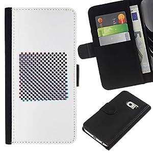 All Phone Most Case / Oferta Especial Cáscara Funda de cuero Monedero Cubierta de proteccion Caso / Wallet Case for Samsung Galaxy S6 EDGE // Raster Art Print Minimalist White
