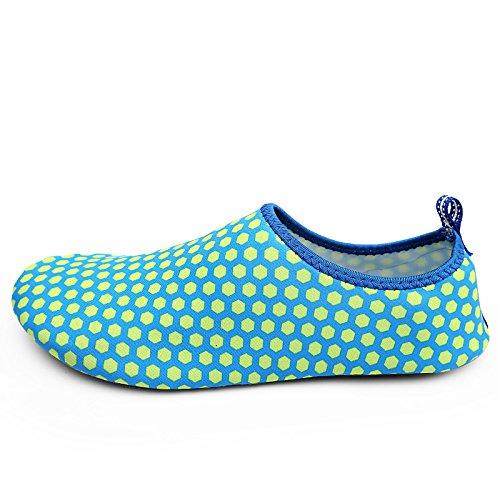 SHOES antideslizante de playa cuidado natación zapatillas Panal deportes la piel Lucdespo Buceo de zapatos caminadora descalzos azul wC0qYRR