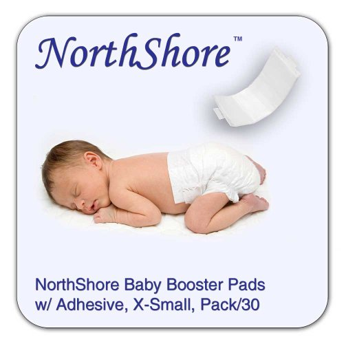 NorthShore Disposable Baby Diaper Doubler w/Adhesive, X-Small, 30