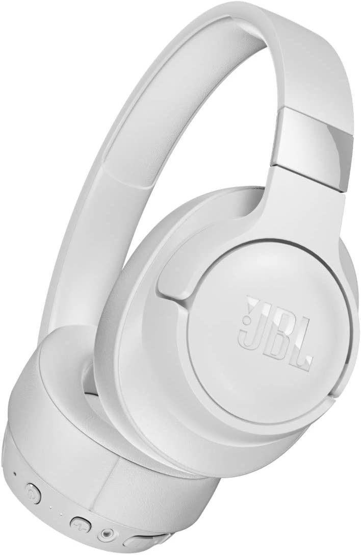 JBL Tune 750 On-Ear Wireless Headphones with Noise-Cancelling (White)
