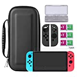 Bestico Protector Kits for Nintendo Switch, Switch Protection Accessory include Nintendo Switch Carrying Case /Game Card Case/3 Piece Clear HD Screen Protector/Joy-Con Silicone Protective (kits)