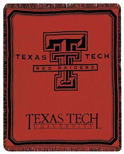 Simply Home Texas Tech University Red Raiders Afghan Throw Blanket 48