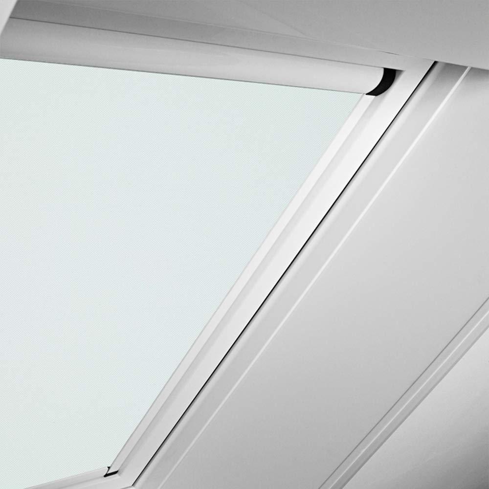 Roto Original Verdunkelungsrollo ZRVM für R75 R78, Fenstergröße 11 11 in der Stofffarbe 1-V01 weiß, WDF KAW KEW Rollo Rollos