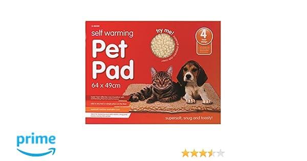 Almohadilla que se calienta sola para cama de mascotas, muy suave y lavable a máquina, 64 cm x 49 cm: Amazon.es: Productos para mascotas