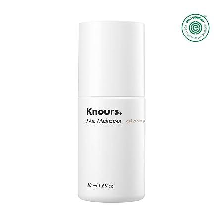 Knours. – Skin Meditation Gel Cream Natural Lightweight Soothing Hydrating Non-comedogenic Gentle Moisturizer for Sensitive, Oliy and Breakout-prone Skin 50ml 1.69 fl oz.