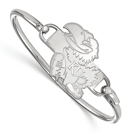 NCAA Sterling Silver University of Kansas Bangle, 8 inch by LogoArt