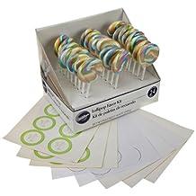 Wilton 1006-2975 Multicolor Pastel Lollipop Favor Kit, 24-Count