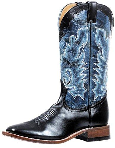 Boulet Stivali Americani - Stivali Da Cowboy Bo-4735-65-e (camminata Normale) - Uomo - Blu / Nero