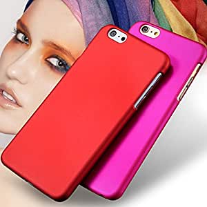 I6/6 Plus Colorful Luxury Slim Back Case For Apple Iphone 6 Nail Polish Lubricating Matte Hard PC Back Cover For iPhone 6 Plus --- Color:rose For iphone 6