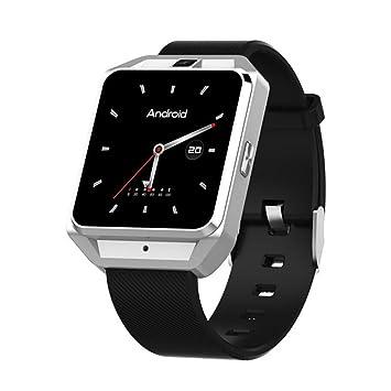 QAR Reloj Multifuncional De 4G Full Netcom Android Reloj De Navegación GPS De WiFi Reloj Multifuncional del Teléfono Reloj Inteligente (Color : La Plata): ...