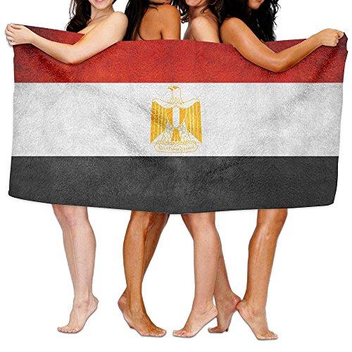 甘味どっちでも五ビーチバスタオル バスタオル エジプトの国旗 スポーツ 海水浴 旅行用タオル 多用途 おしゃれ White