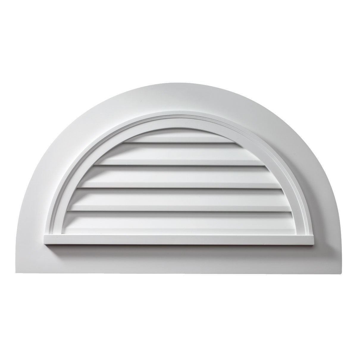 Fypon FHRLV36X18-4F Functional 43''W x 25''H Half Round Louver with 4F Trim Attached