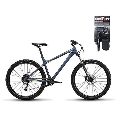 Diamondback 2019 Line Hardtail Mountain Bike LG/20 Blue + Starter Bike Tool Kit (Best Hardtail Mountain Bike 2019 Under 1000)
