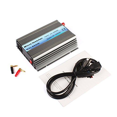 600W Mirco Grid Tie Inverter For Solar Panel Pure Sine Wave DC11-32V to AC90-140V Solar Power Inverter (GTI-600W-18V-110V) by ExGizmo
