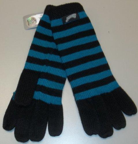Reebok Football Glove - Jacksonville Jaguars Women's Striped Knit Gloves by Reebok
