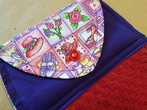 - Red Hat Lady Kitchen Towel, Red Purple Button Top Dish Towel, Handmade Red Hat Society Gift, Secret Sister, Hostess Gift, Housewarming Gift, Gifts Under 20, Red Hat Lady Gift Ideas