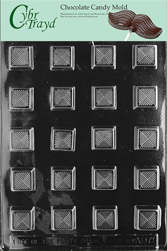 Traditional Candy Mold (Cybrtrayd Life of the Party AO071 Traditional Square Chocolate Candy Mold in Sealed Protective Poly Bag Imprinted with Copyrighted Cybrtrayd Molding Instructions)