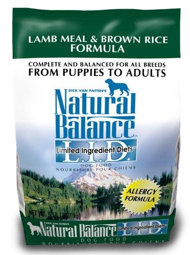 Natural Balance Lamb Meal and Brown Rice Formula Dog Food, 5-Pound Bag, My Pet Supplies