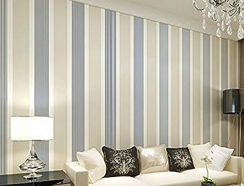 Kinderzimmer wandgestaltung mädchen streifen  Mediterraner Stil vertikalen Streifen Vliestapete Wandbild ...