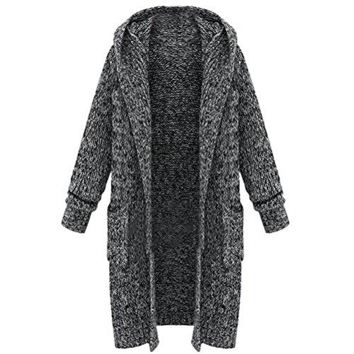 Nanxson TM Women's Stylish Thicken Long Parka Sweater Coat Overcoat WTW0091 (L/Tag Size (Cashmere Sweater Coat)