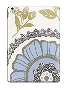 Hot Attractive Amy Butler Lacework Moss Blue First Grade Tpu Phone Case For Ipad Air Case Cover
