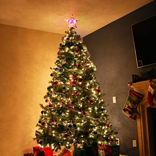 Colorful Christmas Tree Decorations.Shopus Yunlights Christmas Tree Toppers Lighted Star Tree
