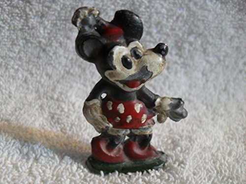 RARE OLD LEAD DISNEY Minnie Mouse w Red Shoes Figure Hand Painted