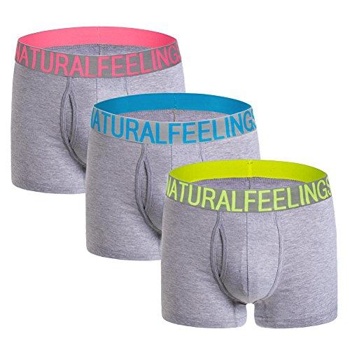 5Mayi Boxer Briefs Mens Underwear Men Pack Men's Underwear for Men and Boys S-XXL (C: Multi, X-Large/39-41