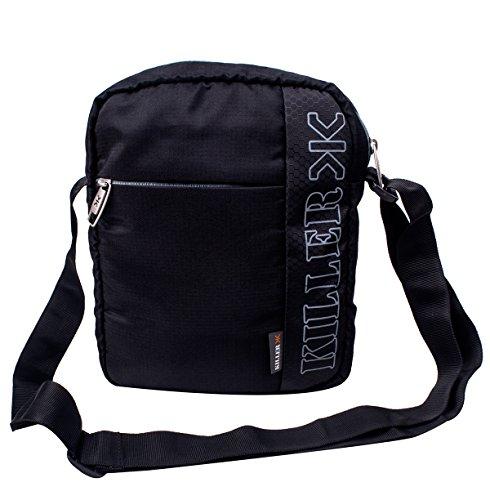 Killer KLC-PC-90001-01 Men Entizo 10-Inch Traveler Sling Bag (Black)