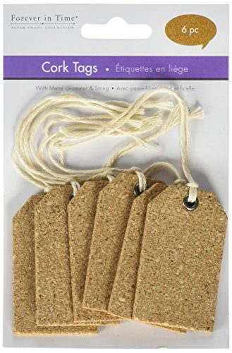 Cork Tags (Multicraft Imports SE610 Tag Cork Tags (6 Pack), Brown)