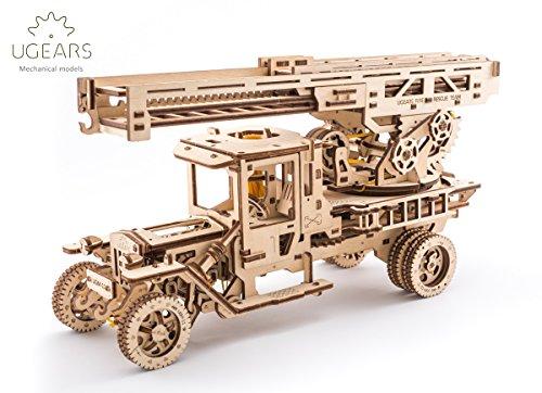 S.T.E.A.M. Line Toys UGears Mechanical Models 3-D Wooden Puzzle - Mechanical Fire Truck