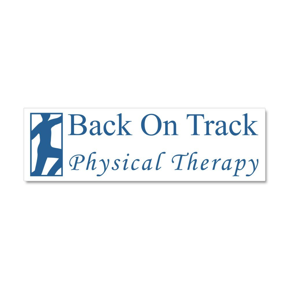 Amazon com cafepress back on track physical therapy car magnet 10 x 3 car magnet 10 x 3 magnetic bumper sticker automotive