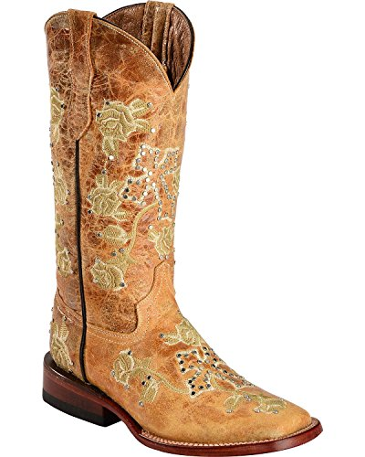 Ferrini Western Boots Womens Floral Cross Distress 81093-15